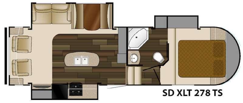 Floorplan - 2014 Heartland Sundance XLT 278TS