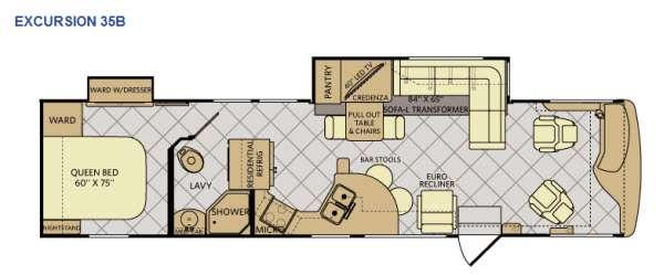 Floorplan - 2015 Fleetwood RV Excursion 35B