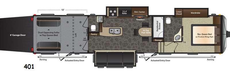 Floorplan - 2014 Keystone RV Fuzion 401