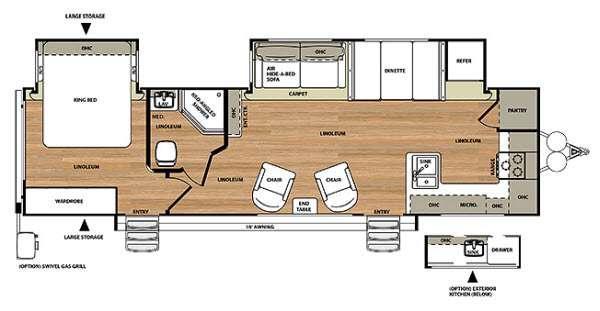 Floorplan - 2014 Forest River RV Salem Hemisphere Lite 302FK