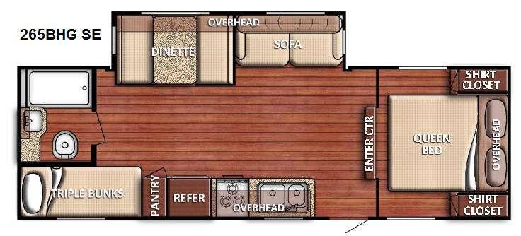Floorplan - 2015 Gulf Stream RV Conquest 265BHG SE