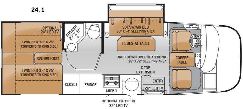 Floorplan - 2015 Thor Motor Coach Axis 24 1