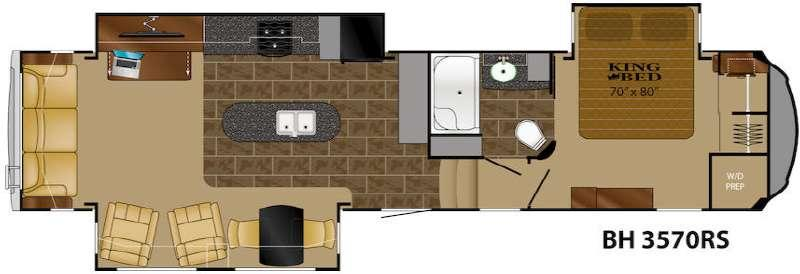 Floorplan - 2015 Heartland Bighorn 3570RS