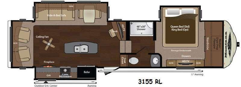 Floorplan - 2014 Keystone RV Montana 3155 RL