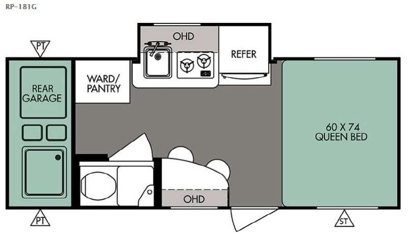 Floorplan - 2015 Forest River RV R Pod RP 181G