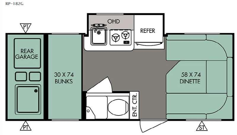 R Pod RP-182G Floorplan Image
