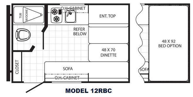 Canyon Cat 12RBC Floorplan