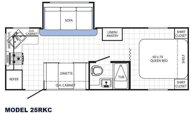 Floorplan - 2015 Canyon Cat 25RKC Travel Trailer