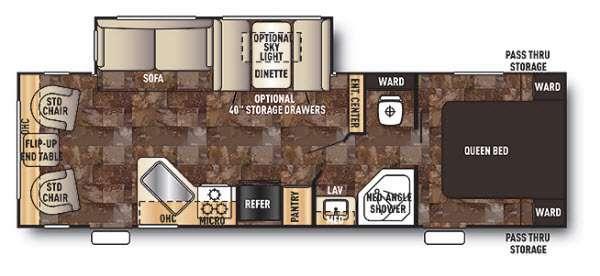 Cherokee 264L Floorplan Image