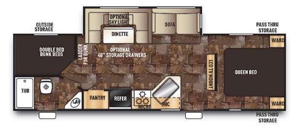 Cherokee 274DBH Floorplan Image