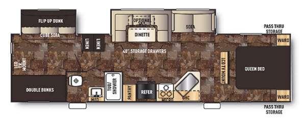 Floorplan - 2015 Forest River RV Cherokee 294BH