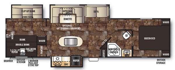 Cherokee 304BH Floorplan Image