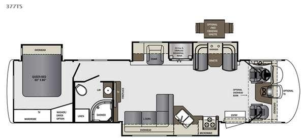 Floorplan - 2015 Forest River RV Georgetown XL 377TSF