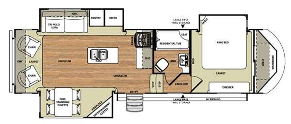 Floorplan - 2015 Forest River RV Wildwood Heritage Glen 286RLT
