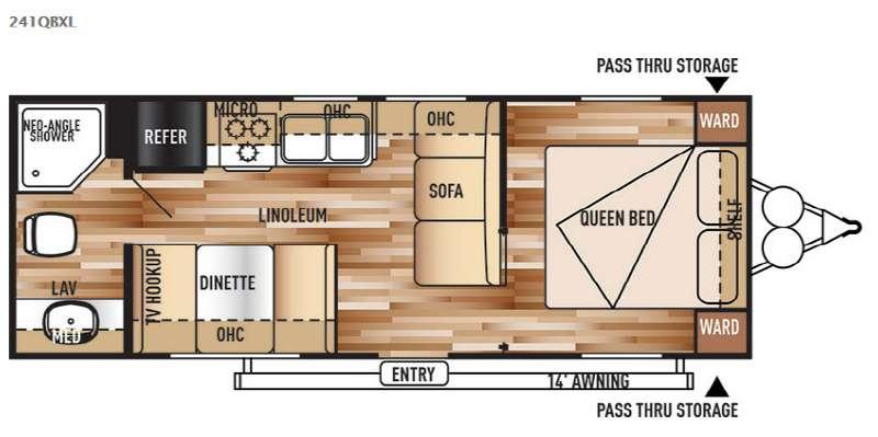 Wildwood X-Lite 241QBXL Floorplan Image
