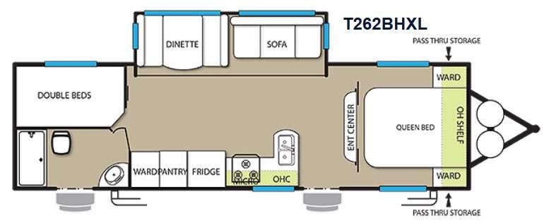 Floorplan - 2015 Forest River RV Wildwood X-Lite 262BHXL