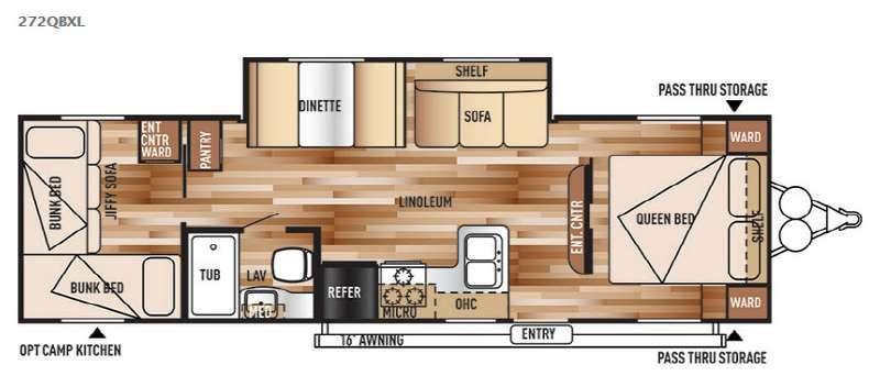 Wildwood X-Lite 272QBXL Floorplan Image