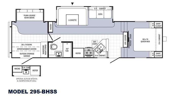 Floorplan - 2015 Palomino Puma 295-BHSS