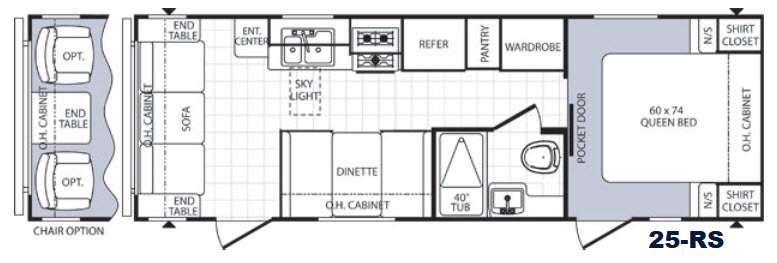 Puma 25RS Floorplan