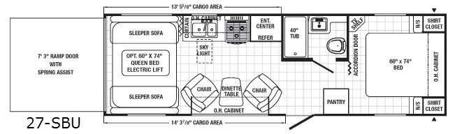 Floorplan - 2015 Palomino Puma Unleashed 27-SBU