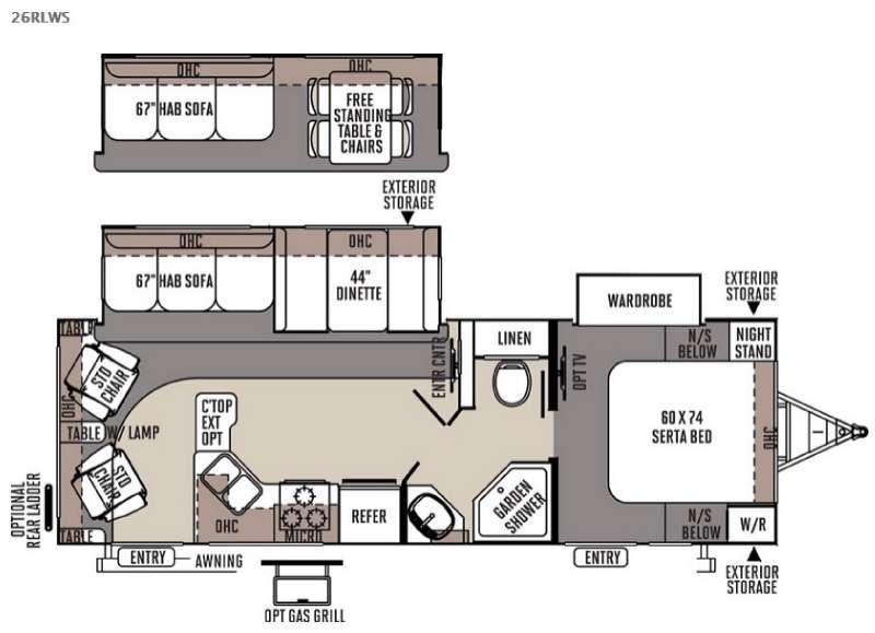 Floorplan - 2015 Forest River RV Flagstaff Super Lite 26RLWS