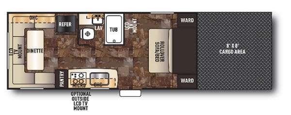 Cherokee Wolf Pack Sport 20WP Floorplan Image