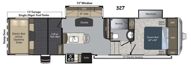 Floorplan - 2015 Keystone RV Carbon 327