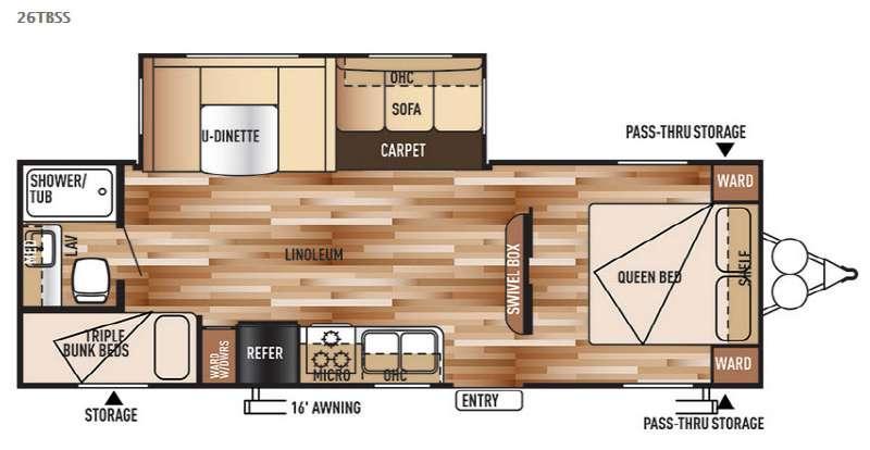 Wildwood 26TBSS Floorplan Image
