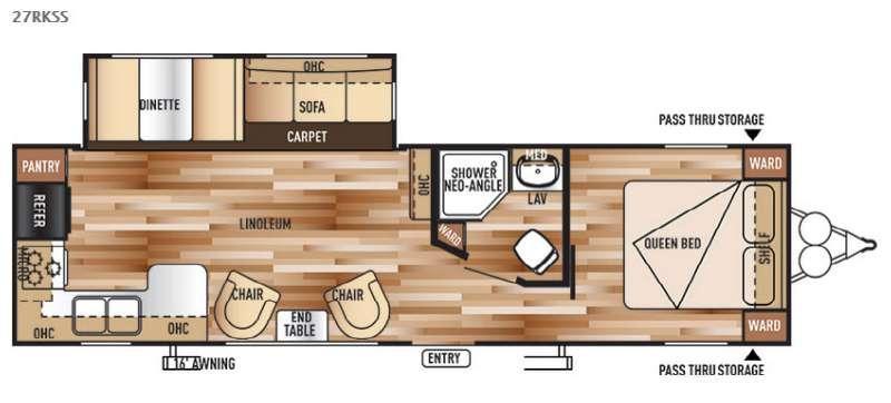 Floorplan - 2015 Forest River RV Wildwood 27RKSS