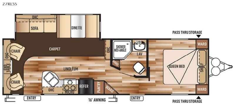 Wildwood 27RLSS Floorplan Image