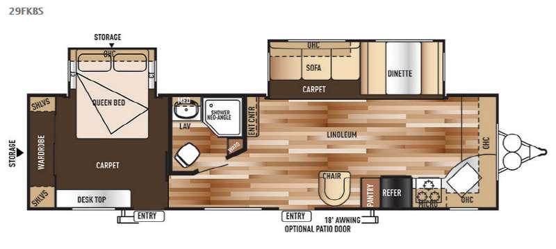 Floorplan - 2015 Forest River RV Wildwood 29FKBS