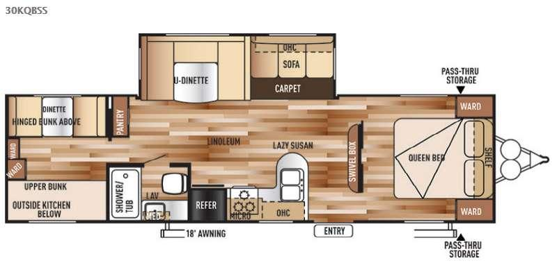 Floorplan - 2015 Forest River RV Wildwood 30KQBSS