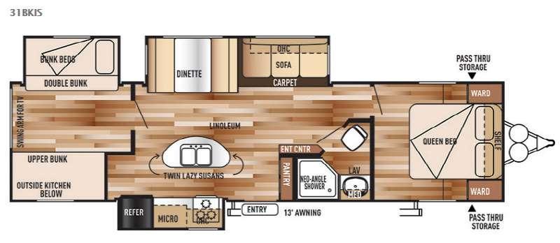 Wildwood 31BKIS Floorplan Image