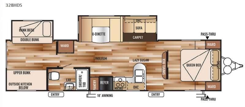 Wildwood 32BHDS Floorplan Image