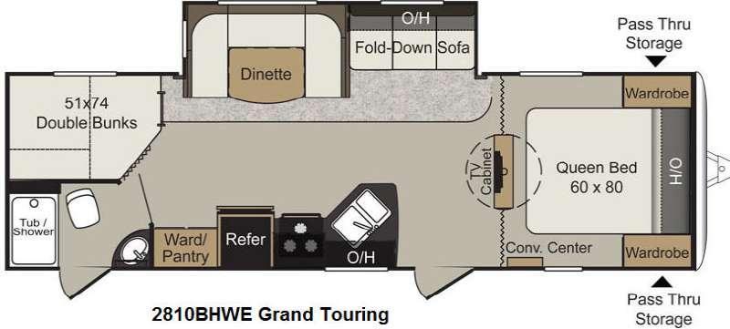 Floorplan - 2015 Keystone RV Passport 2810BHWE Grand Touring