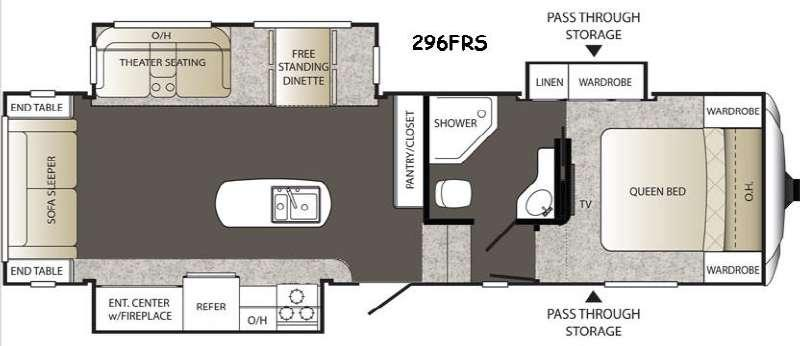 Floorplan - 2015 Keystone RV Outback 296FRS