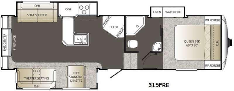 Floorplan - 2015 Keystone RV Outback 315FRE