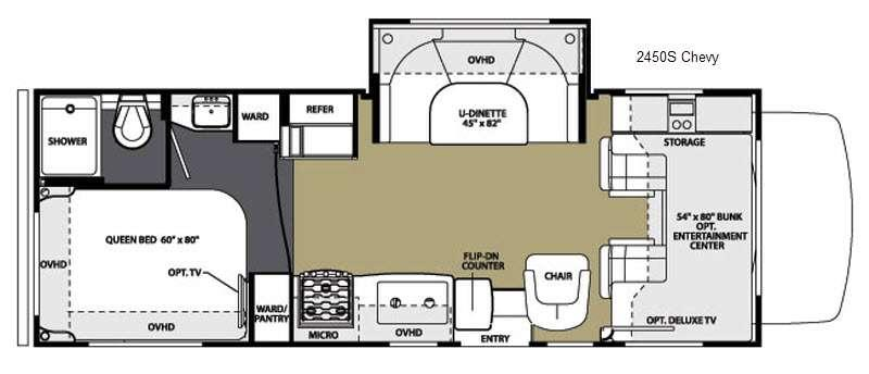Floorplan - 2015 Forest River RV Sunseeker 2450S Chevy