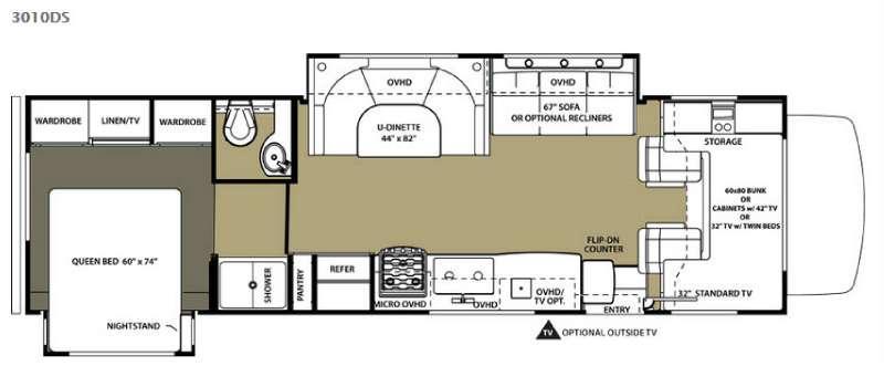 Floorplan - 2015 Forest River RV Sunseeker 3010DS Ford