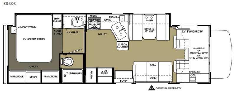 Floorplan - 2015 Forest River RV Sunseeker 3050S Ford