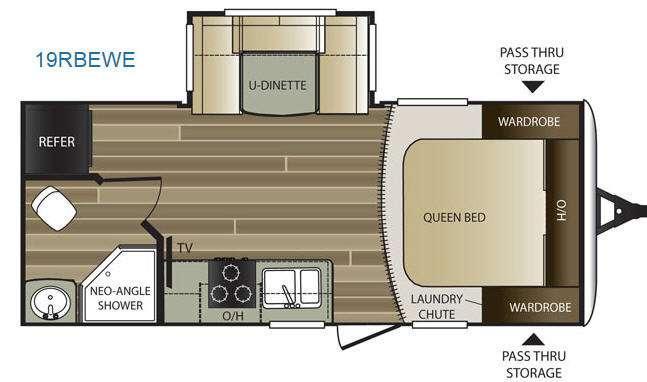 Floorplan - 2015 Keystone RV Cougar Half-Ton Series 19RBEWE