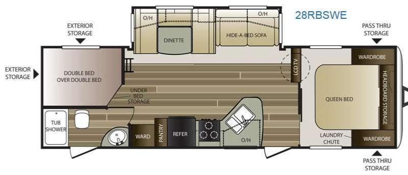 Floorplan - 2015 Keystone RV Cougar Half-Ton Series 28RBSWE