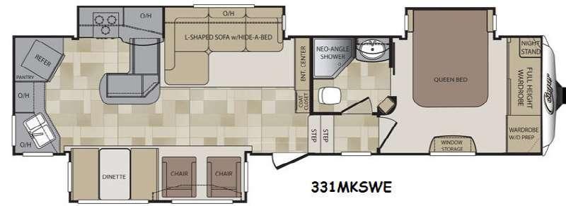 Floorplan - 2015 Keystone RV Cougar 331MKSWE