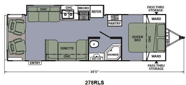 Floorplan - 2015 Coachmen RV Apex Ultra-Lite 278RLS