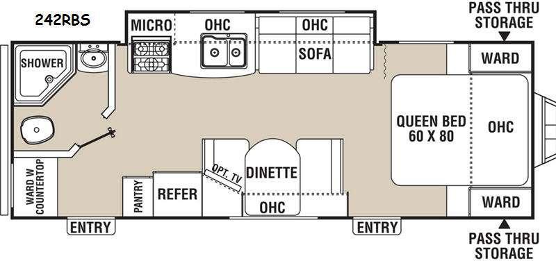 Freedom Express 242RBS Floorplan Image