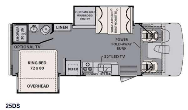 Floorplan - 2015 Forest River RV FR3 25DS