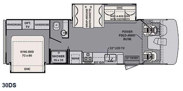 Floorplan - 2015 Forest River RV FR3 30DS