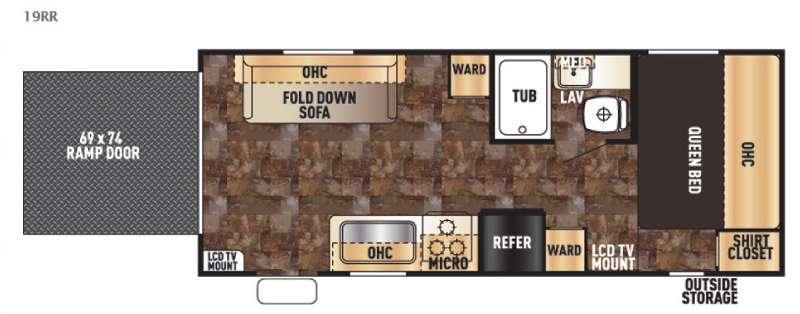 Floorplan - 2015 Forest River RV Cherokee Grey Wolf 19RR