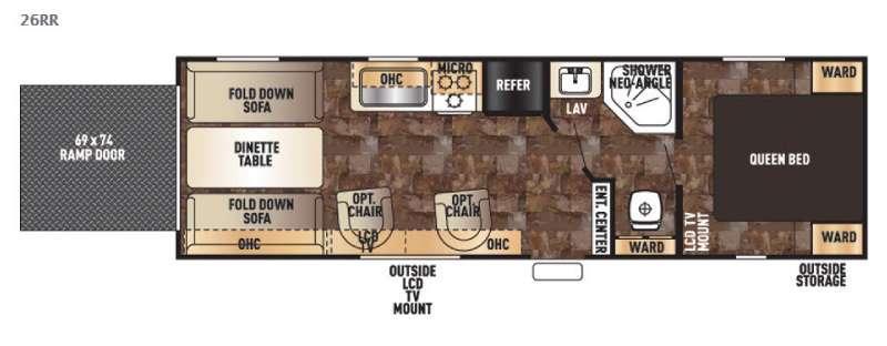 Floorplan - 2015 Forest River RV Cherokee Grey Wolf 26RR