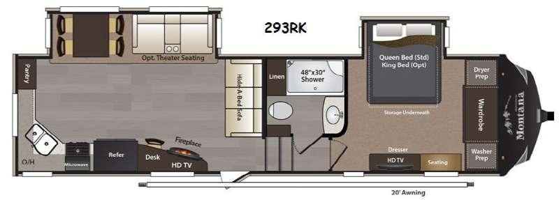 Floorplan - 2015 Keystone RV Montana High Country 293RK